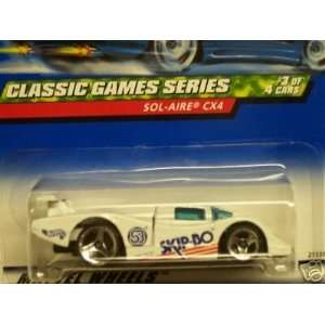 Mattel Hot Wheels 1999 164 Scale Classic Games Series White Sol Aire