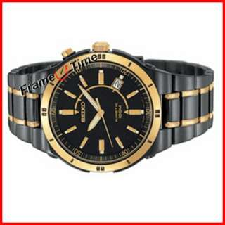 Seiko Kinetic Men Titanium Black Gold TiCN SKA366 Watch