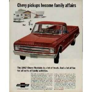 family activities.  1967 Chevrolet Fleetside Pickup Truck Ad