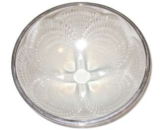 Lalique Coquilles Silver Mounted Opalescent Glass Bowl