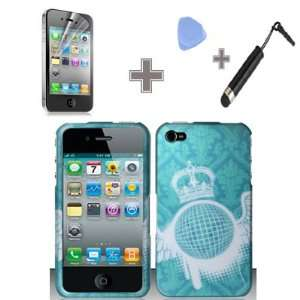 Film   Case Opener   Stylus Pen) Rubberized Sky Blue White Wing Crown