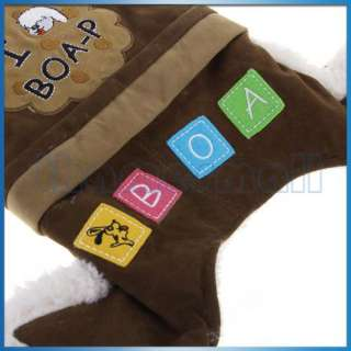 Cute Pet Dog Puppy Hoodie Coat Jacket Clothes Apparel w/ Fluffy Rim L