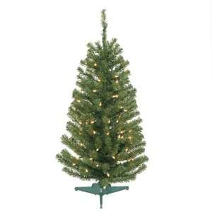 3 Pre Lit Balsam Fir Artificial Christmas Tree   Clear