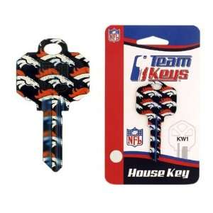 NFL Denver Broncos 2 Key Set   Kwikset