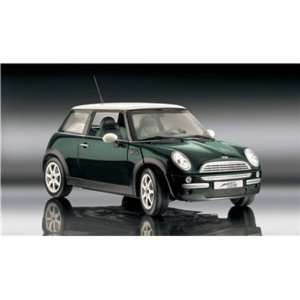 Mini Cooper Diecast Car Model 112 Green Revell Toys
