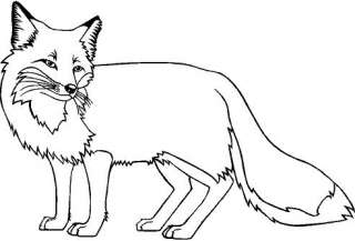 Red Fox Large Vinyl Decal Car Truck Window Sticker