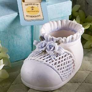 Capodimonte baby Collection Blue Baby Bootie Favors
