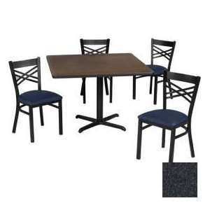 36 Square Table & Criss Cross Back Chair Set, Graphite
