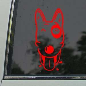 PIT BULL LABRADOR DOG Red Decal Truck Window Red Sticker Arts