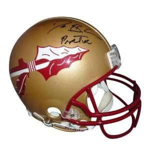 Deion Sanders Autographed Helmet   Authentic with