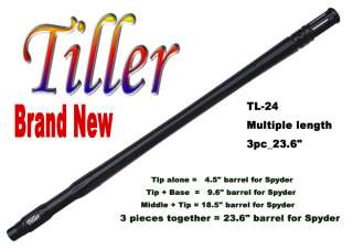 TL 24 Paintball Sniper Barrel 3pc_ 24 wBlack   Spyder