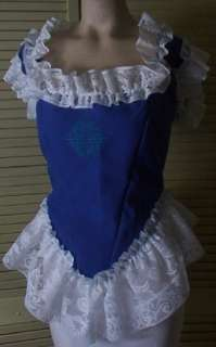 Victorian Civil War Ball Gown Dress Saloon Bodice L