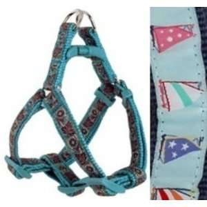 Douglas Paquette STEP Dog Harness SAILBOATS BLUE SMALL