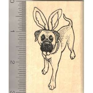 Easter Mastiff Dog in Bunny Ears Rubber Stamp Arts, Crafts & Sewing