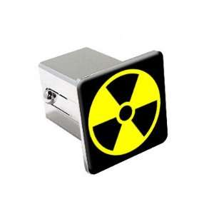 Radioactive Radiation Nuclear   Chrome 2 Tow Trailer Hitch Cover Plug