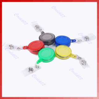 Pcs Retractable ID Card Badge Holder Reels with Clip