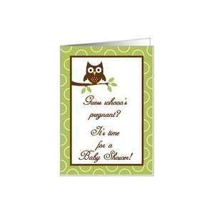 Forrest Woodland Animals Hoot Owl Baby Shower Invitation