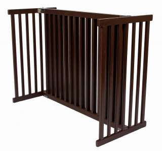 Wood FREESTANDING DOG GATE expands to 72 for stairs hallway doorway