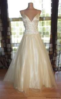 Full Sweep Princess Tulle Ball Gown Wedding Dress IVORY Prom 14