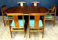 Danish Modern Teak Round Dining Table Dux Eames Era