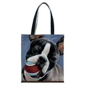 BOSTON TERRIER FIDDLERS ELBOW OIL CLOTH TOTE Everything