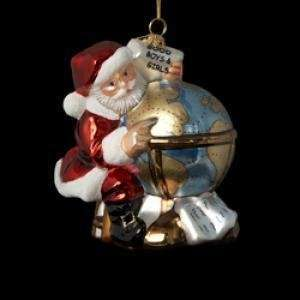 Kurt Adler Polonaise Ornament Santa Claus Flight Plan