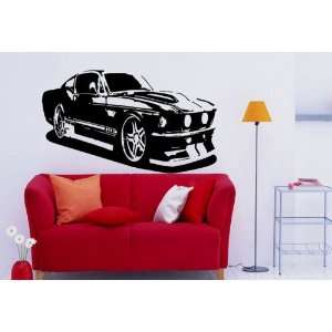 Wall Mural Vinyl Sticker Car Ford Mustang S. 1210
