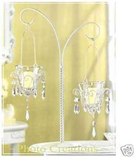 10 WHITE CHANDELIER CANDLE HOLDERS,WEDDING CENTERPIECES