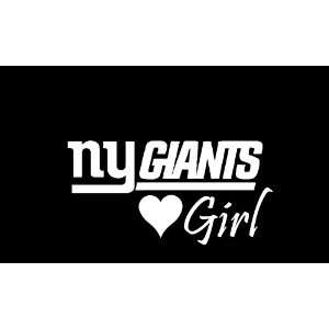 New York Giants Girl #2 Car Window Decal Sticker White 7