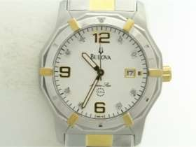 Mens Bulova 98D18 Marine Star Two Tone Stainless Watch