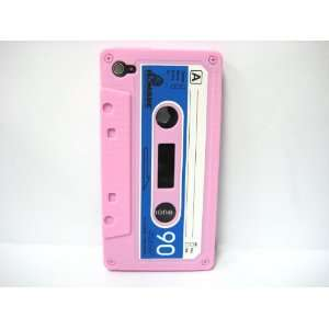 Pink Cassette Tape Design Soft Silicone Skin Gel Cover