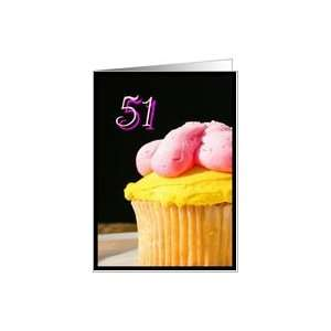 Happy 51st Birthday muffin Card Toys & Games