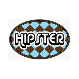 Hipster Oval Car Magnet Automotive