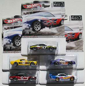 HOT WHEELS RACING 2012 MUSCLE Release 1 SET OF 5