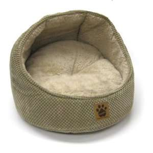 Snoozzy Hooded Cat Bump Bed Tan 18 x 18 x 15 Pet