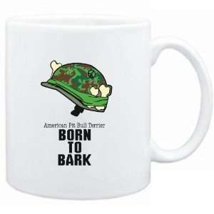 Mug White  American Pit Bull Terrier / BORN TO BARK