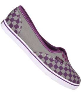 Vans Authentic Lo Down Checkerboard Grey Gray Purple Skate Shoes