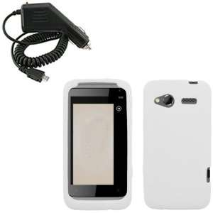 iFase Brand HTC Radar Combo Solid White Silicone Skin Case