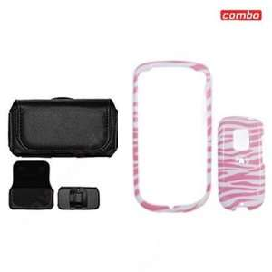HTC Hero CDMA Sprint Combo Pink/White Zebra Design Protective Case