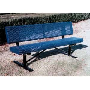 Webcoat Innovated Rolled Style 4Ft. Bench with Back, Small Hole 11