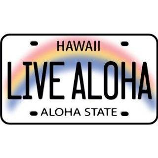 Live Aloha License Plate Car Decal Bumper Sticker