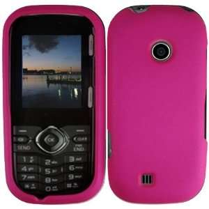 Hot Pink Rubberized Snap on Hard Skin Shell Protector