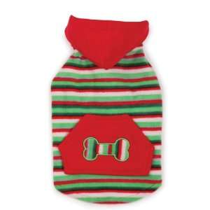 Casual Canine Polyester Christmas Fleece Dog Hoodie, X