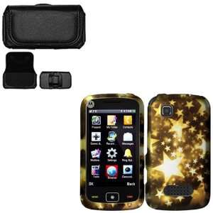 iFase Brand Motorola EX124g Combo Gold Stars Protective Case Faceplate