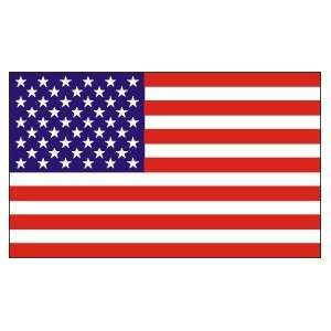 UNITED STATES AMERICA USA 50 5 POINTED WHITE SS FLAG
