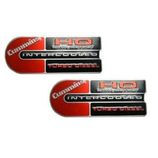 Ram Cummins (Big C) Ho Turbo Diesel Engine Emblems Badge Red/black