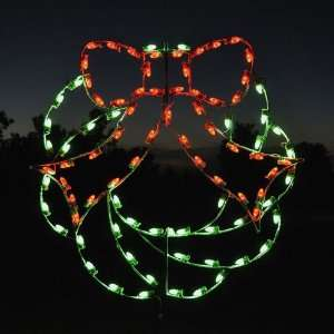 Holiday Lights Christmas Wreath