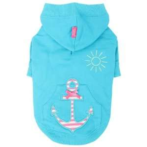 Pinkaholic New York Sunny Day Hooded Shirt for Dogs, Aqua