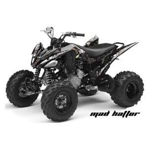 AMR Racing Yamaha Raptor 250 ATV Quad Graphic Kit   Madhatter Black