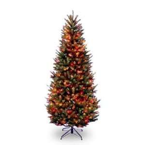 Fraser Slim Fir Hinged Tree with 500 Multi Lights